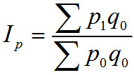 Laspeiresa (ar bāzes perioda svariem) cenu indekss
