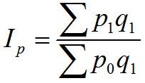 Paašē (ar pārskata perioda svariem) cenu indekss