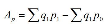 Ap = sum(q1*pq) - sum(q1*p0)