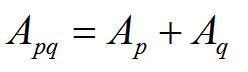 Apq = Ap + Aq
