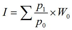 Patēriņa cenu indekss (PCI), Laspeiresa tipa formula